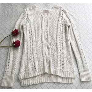Aeropostale Long Nude Knitted Sweater
